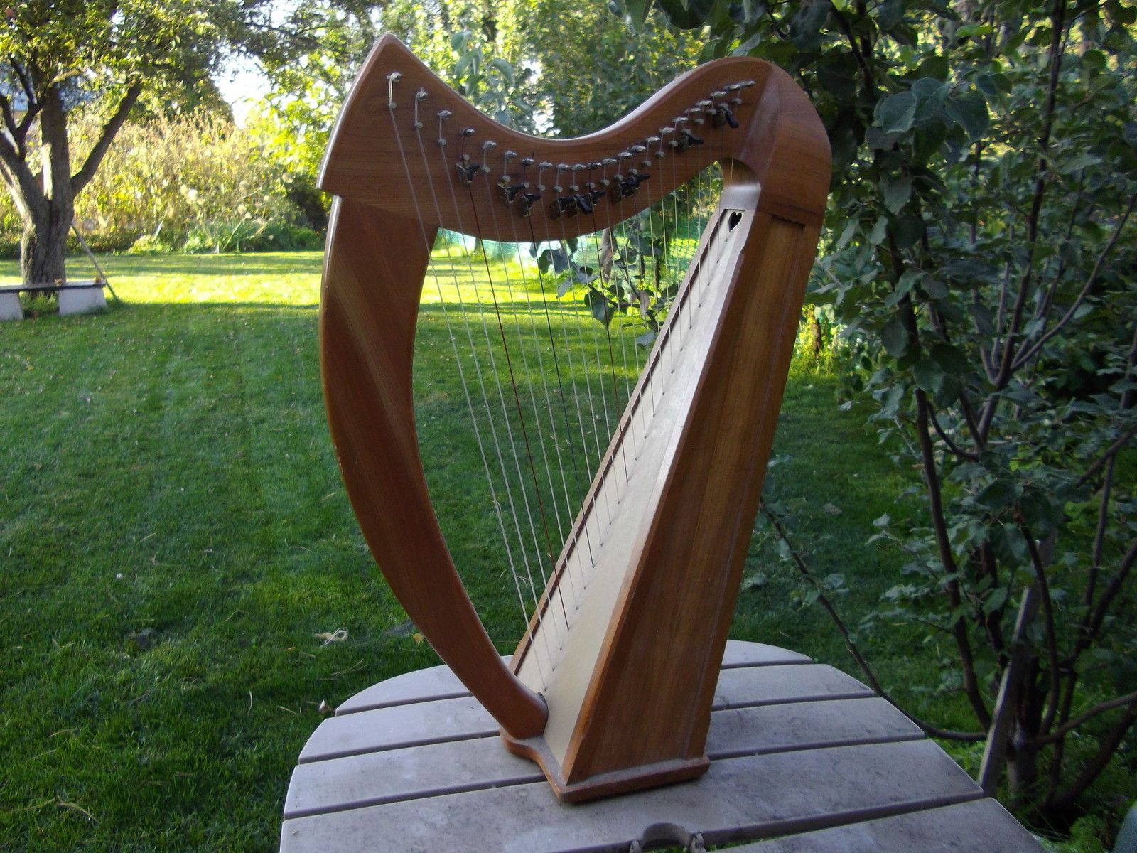 Stoney End Brittany Harp   Songsters, Tunes & Musical Things