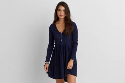 Aeo Ribbed Babydoll Dress By Aeo Dress The Part The