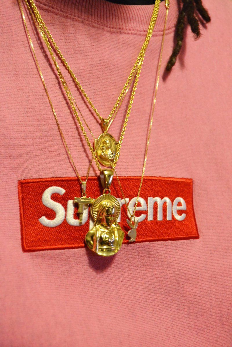 Supreme Box Logo X Gold Chains I Fucks With This