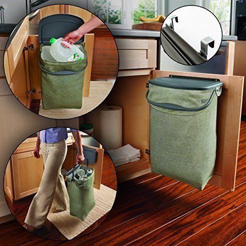 Hidden Recycler Over-The-Door Under Cabinet Recycle Waste ...