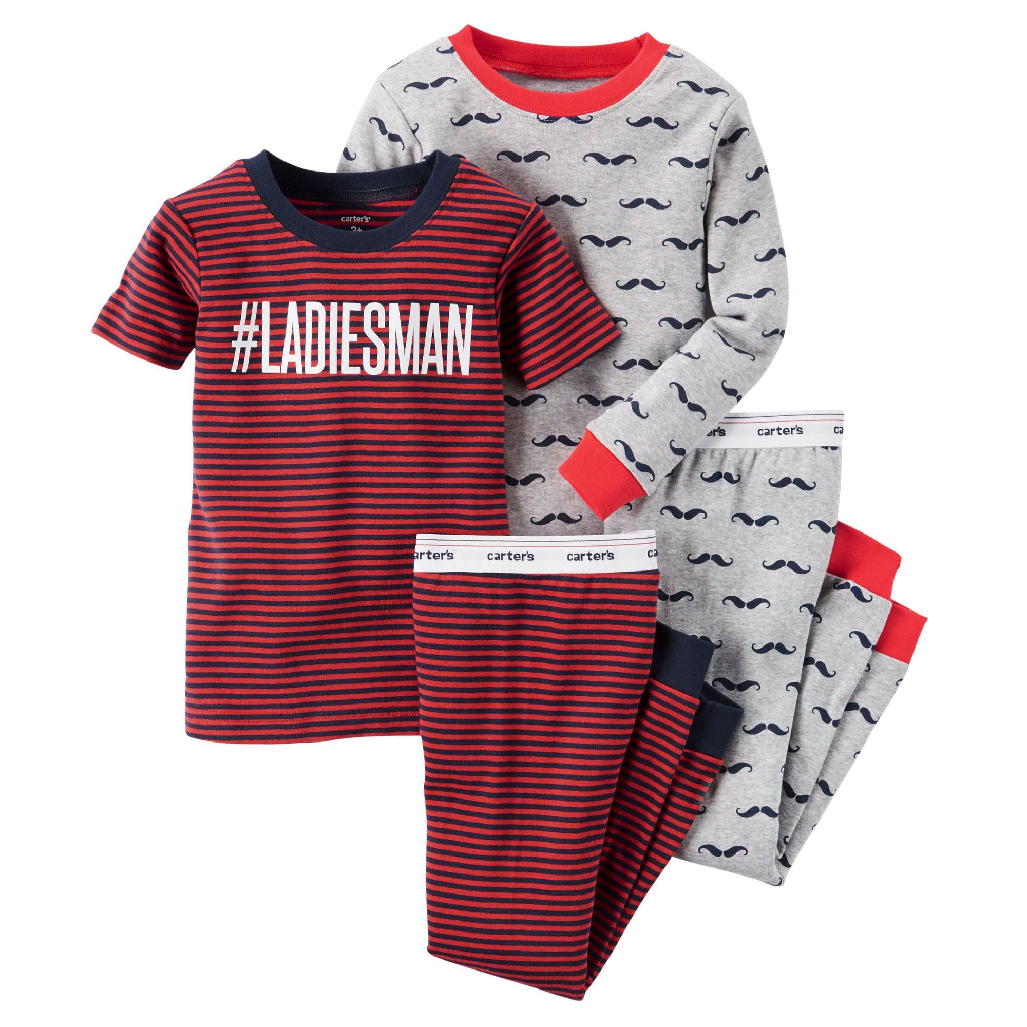 a64592285d72 Toddler Boy 4-Piece Snug Fit Cotton PJs