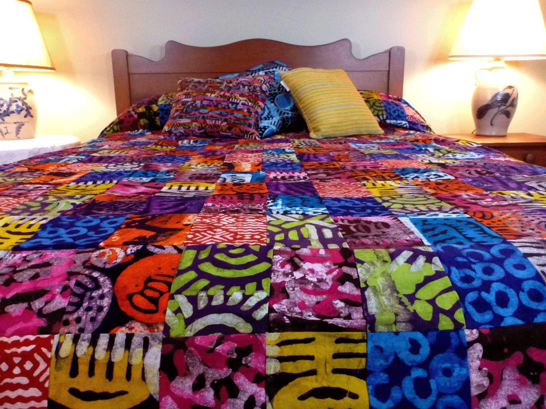 queen duvet cover batik bedspread patchwork ghana west africa black pride pinterest. Black Bedroom Furniture Sets. Home Design Ideas