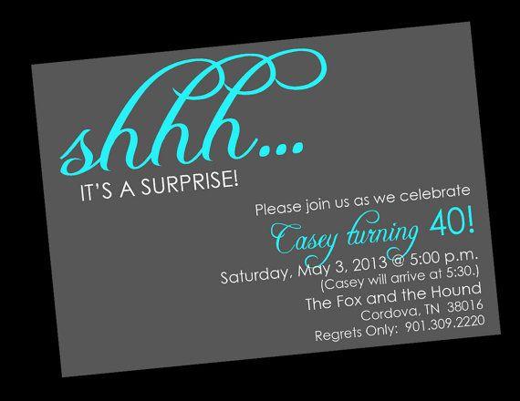 Shhh Surprise Birthday Invitations Printable By Wackykracker 1200