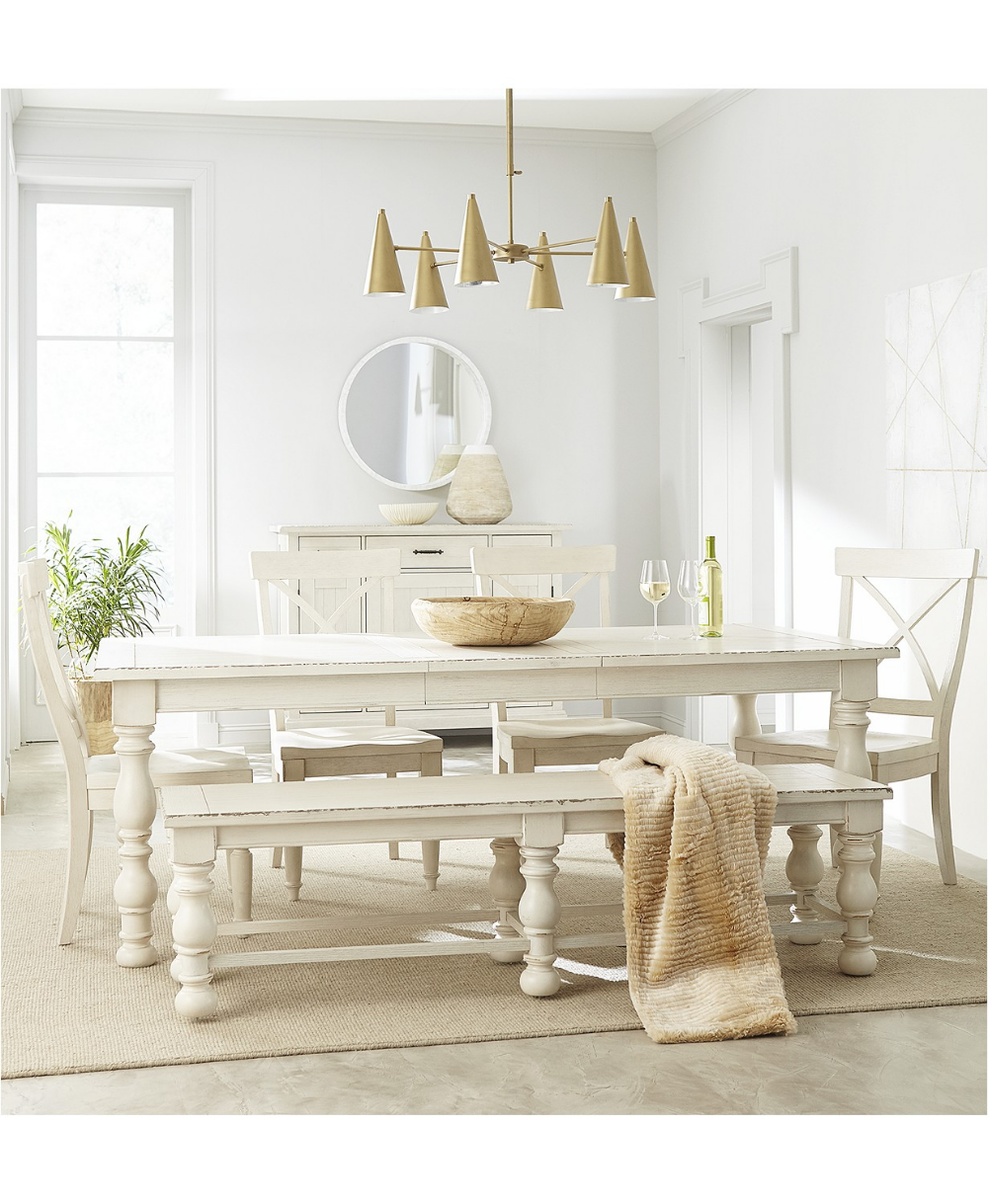 Pin On Country Rustic Dining, White Dining Room Table Bench