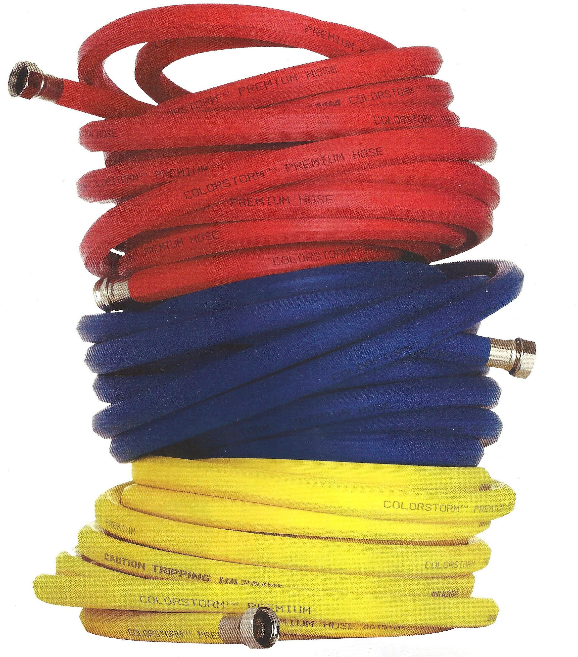 Color Combinations Columbia Red Blue Yellow Hoses