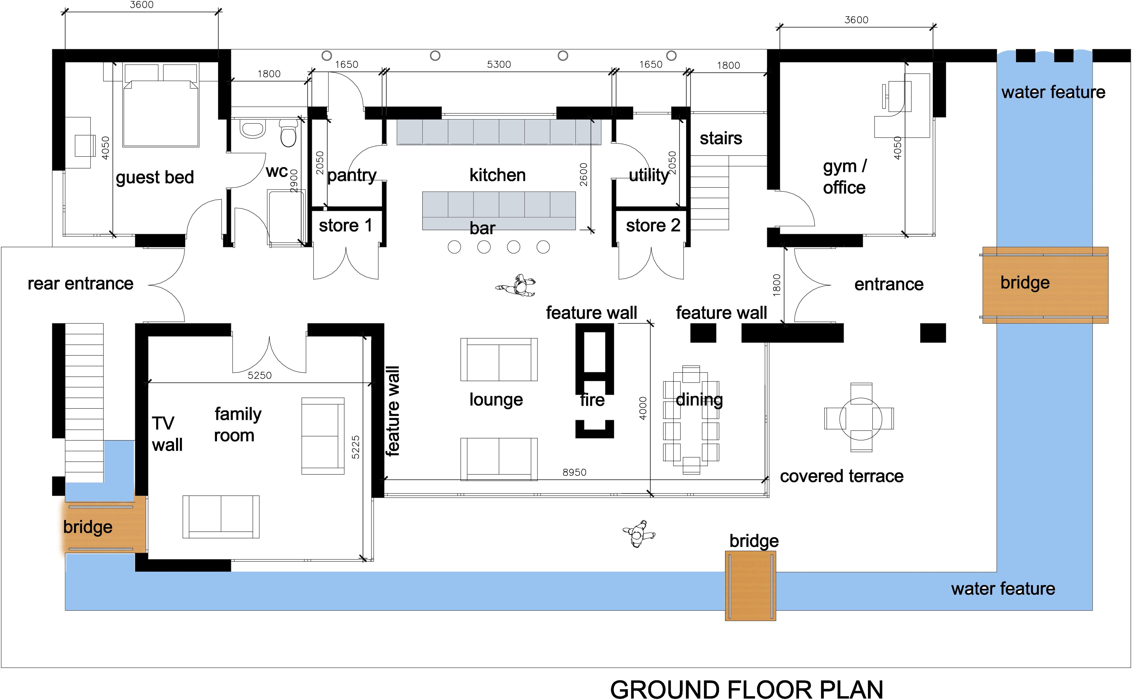 House interior design modern house plan images love for Contemporary floor plans for new homes