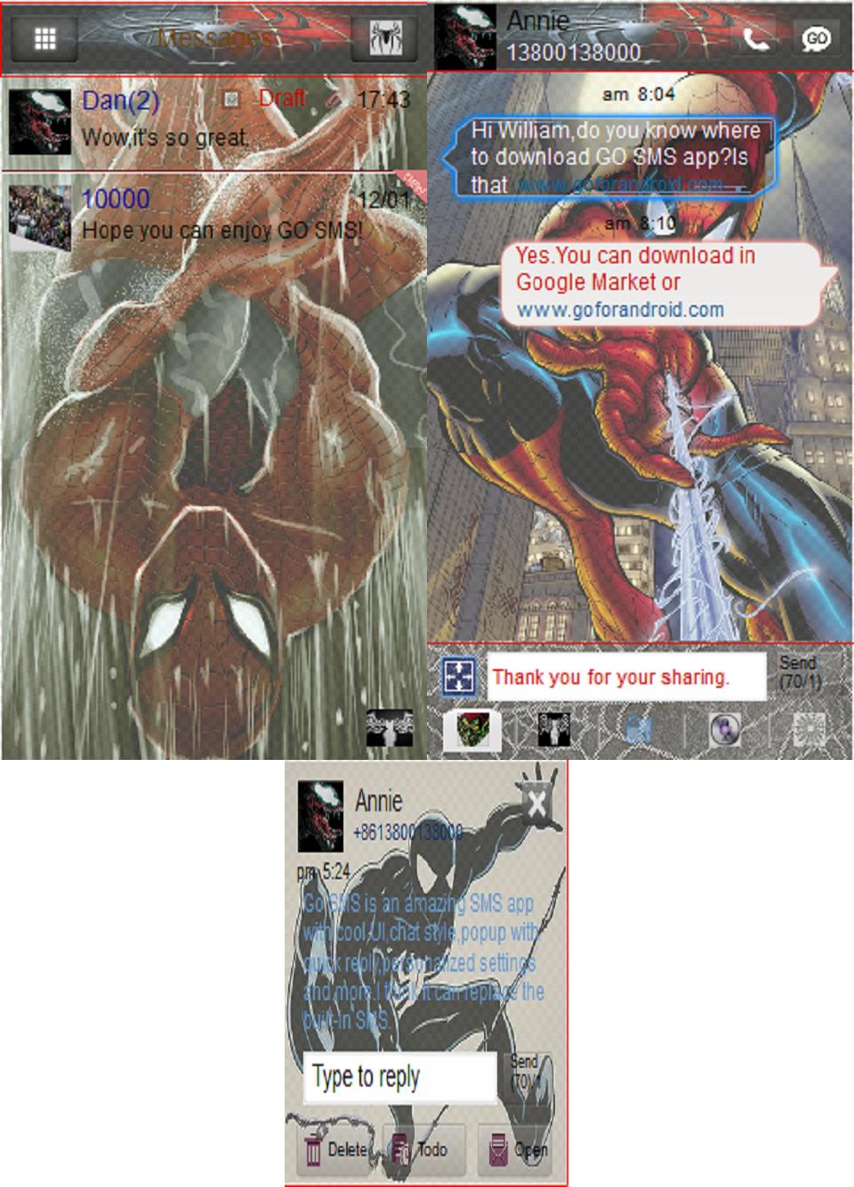 Superhero Comic Book SMS Theme