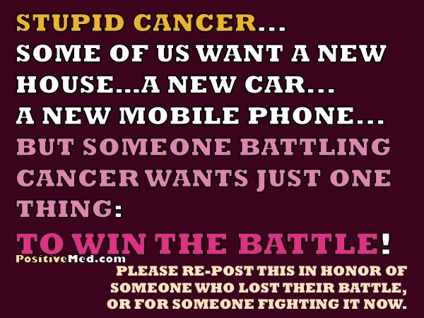 Stupid Cancer Fighting Cancer Cancer Stupid Cancer Cancer