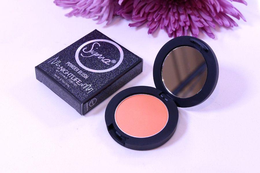 Night Life by Camila Coelho collection sigma beauty 7 hot spot blush