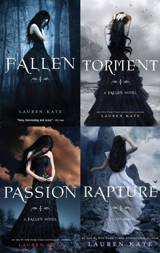 Fallen Series I have yet to read the last one, but I really enjoy this series. At first, I wasn't in to the books, but the second and the third are especially interesting. I love the different settings in the 3rd book.
