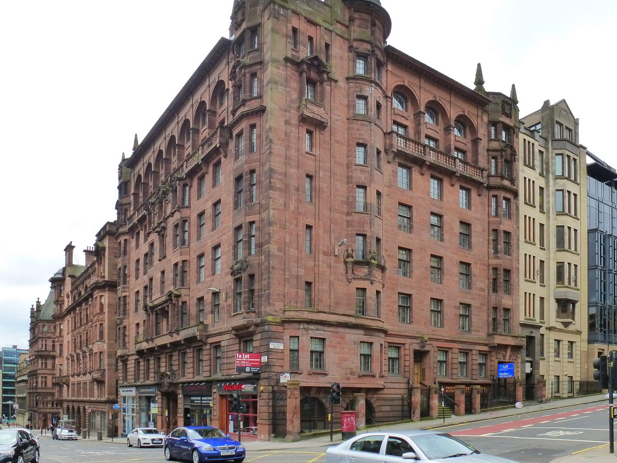 Glasgow Scotland 157 167 Hope Street And 169 175 West George Street Glasgow Architecture Glasgow Street