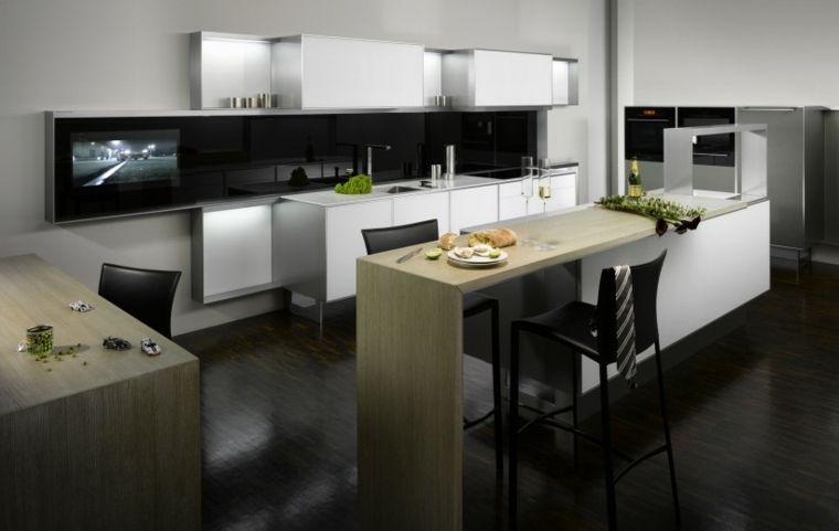 Cocinas con barra americana 35 diseños de lujo Pinterest Barra - cocinas con barra