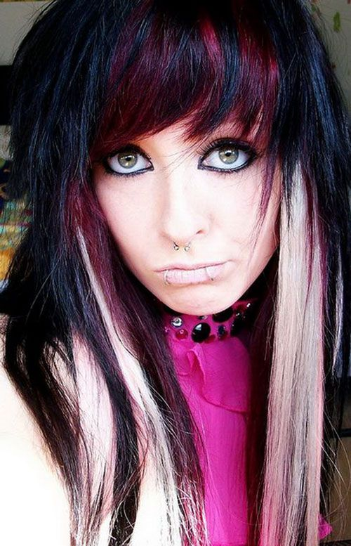Enjoyable Funky Emo Hairstyles For Teenage Girls Trendy Hairstyles Color Hairstyles For Women Draintrainus