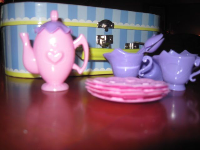 Lola and Kayleigh's tiny tea set...