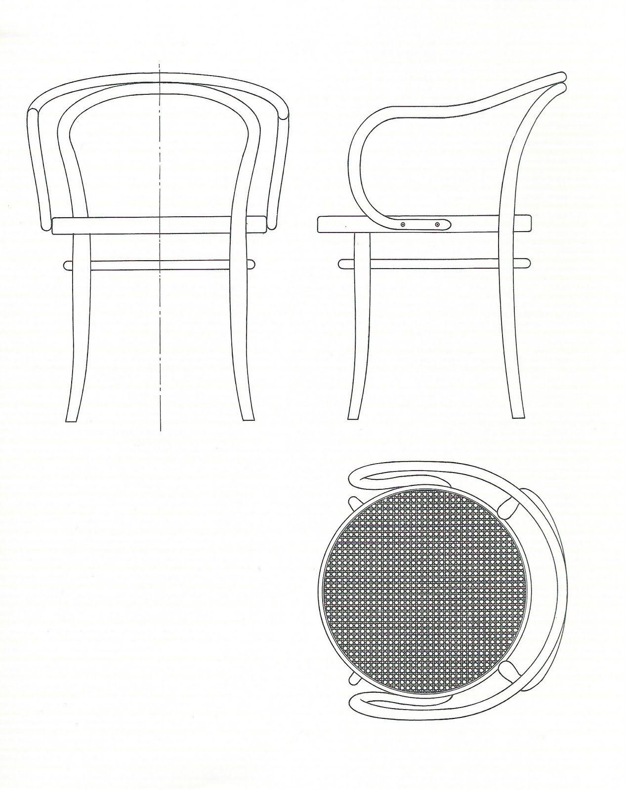 Disegni tecnici della sedia n 14