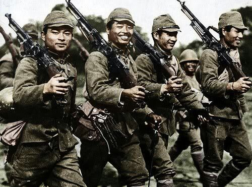 Imperial Japanese Army troops on Bohol Island in the Philippines