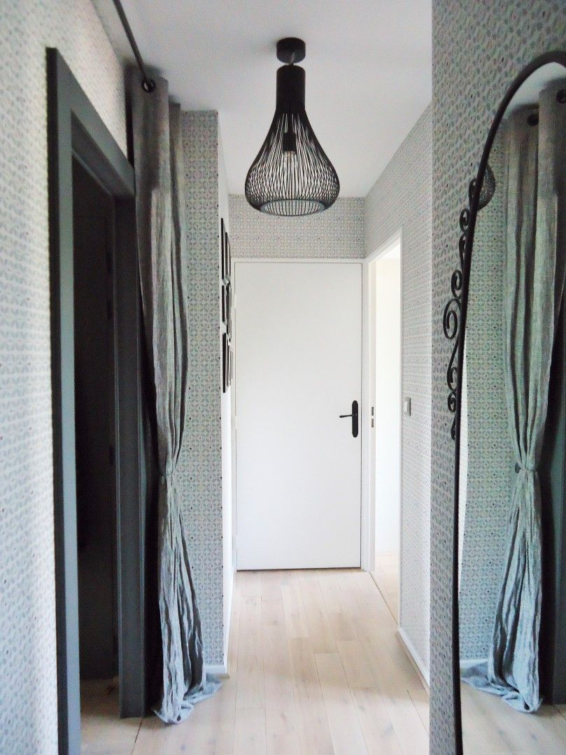 couloir gris clair, scandinave www.homebymarie.com | Home by Marie ...