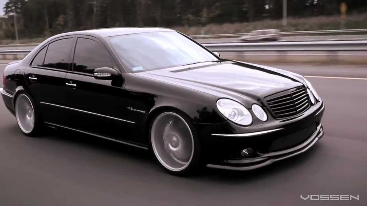 Mercedes benz e55 amg on 20 vossen vvs cv3 concave wheels rims