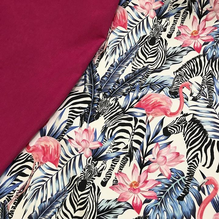 Zebra Ve Flamingo Dijital Baskı kumaş En 140 cm metresi 30 Fuşya Duck Bezi En 180 cm metresi 12.50 Fon perde minder  Kırlent  koltuk döşemesi  çanta vs alanlarda kullanılır. #intaslar #kumaş #dijitalbaskılıkumaş #duckbezi #fonperde #minder #panamaketeni #koltukdöşemesi
