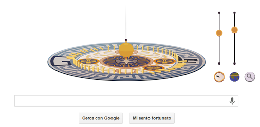 Il doodle pubblicato oggi 18-09-2013 su google.it è dedicato al 194° anniversario della nascita di Léon Foucault.