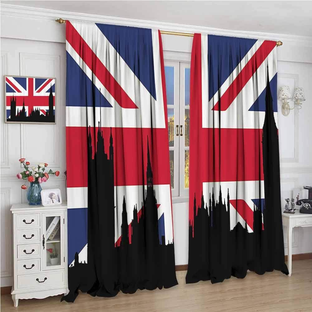Guuvor Union Jack Shading Insulated Curtain Houses Of The
