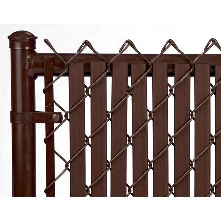 Brown Tube Slats For 10ft Chain Link Fence Walmart Com In 2020 Chain Link Fence Fence Slats Fence Design