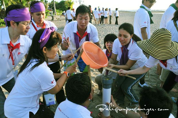 Water Relay Games Bali Beach Team Building Programs Summer