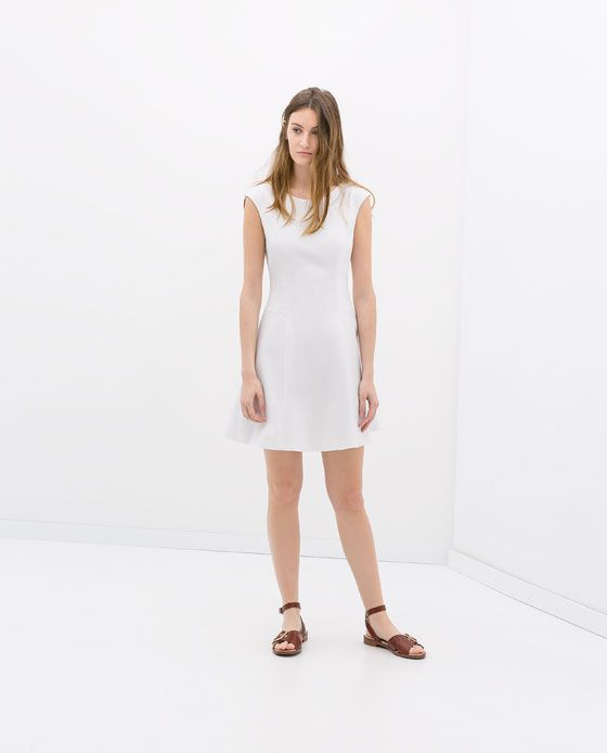 Image 1 of COTTON SLEEVELESS DRESS from Zara
