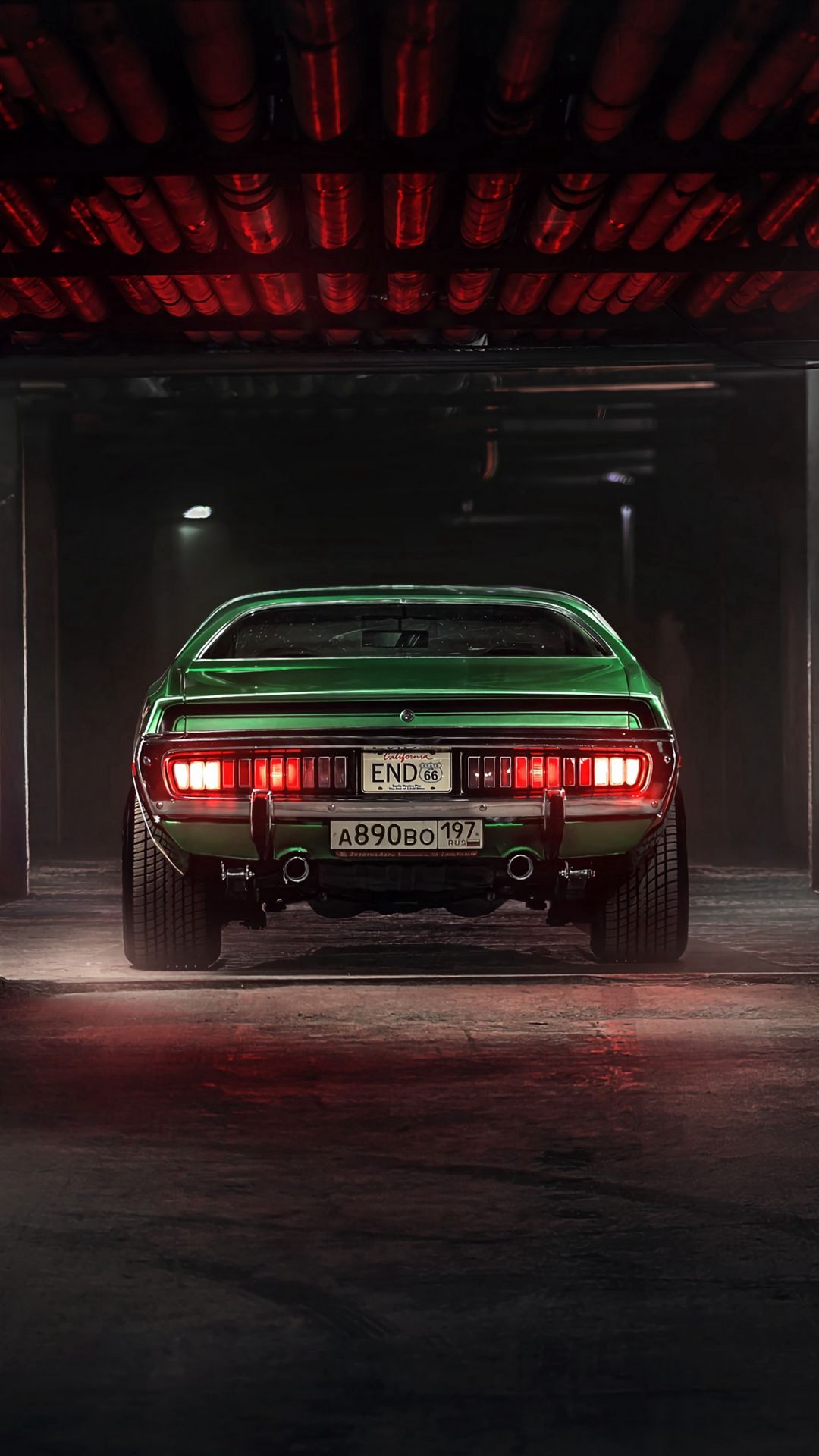 1080x1920 Wallpaper Car Garage Tuning Green Rear View Car Iphone Wallpaper Muscle Cars Bmw Wallpapers
