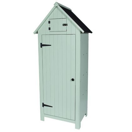 WestWood Wooden Sentry Box Beach Hut Shed Storage Outdoor Cupboard Tool WBH01