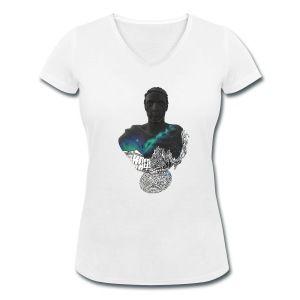 Norrköping Galaxy Sky - Ekologisk T-shirt med V-ringning dam från Stanley & Stella