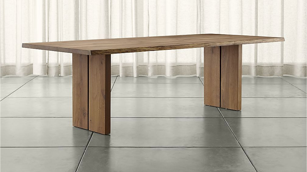 Dakota 99 Dining Table Crate And Barrel White Oak In Modern Shade Of Gray 1799 Dining Table Dining Room Table Dining
