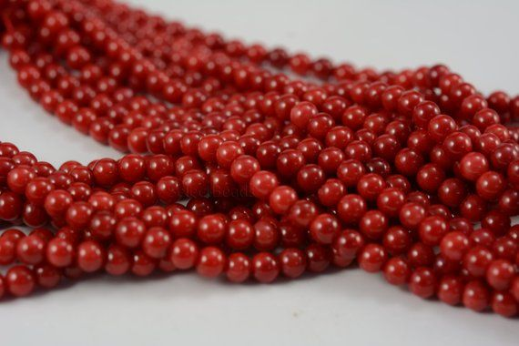 Coral Round Beads 4mm Dull Pink 15 Pcs Art Hobby DIY Jewellery Making Crafts