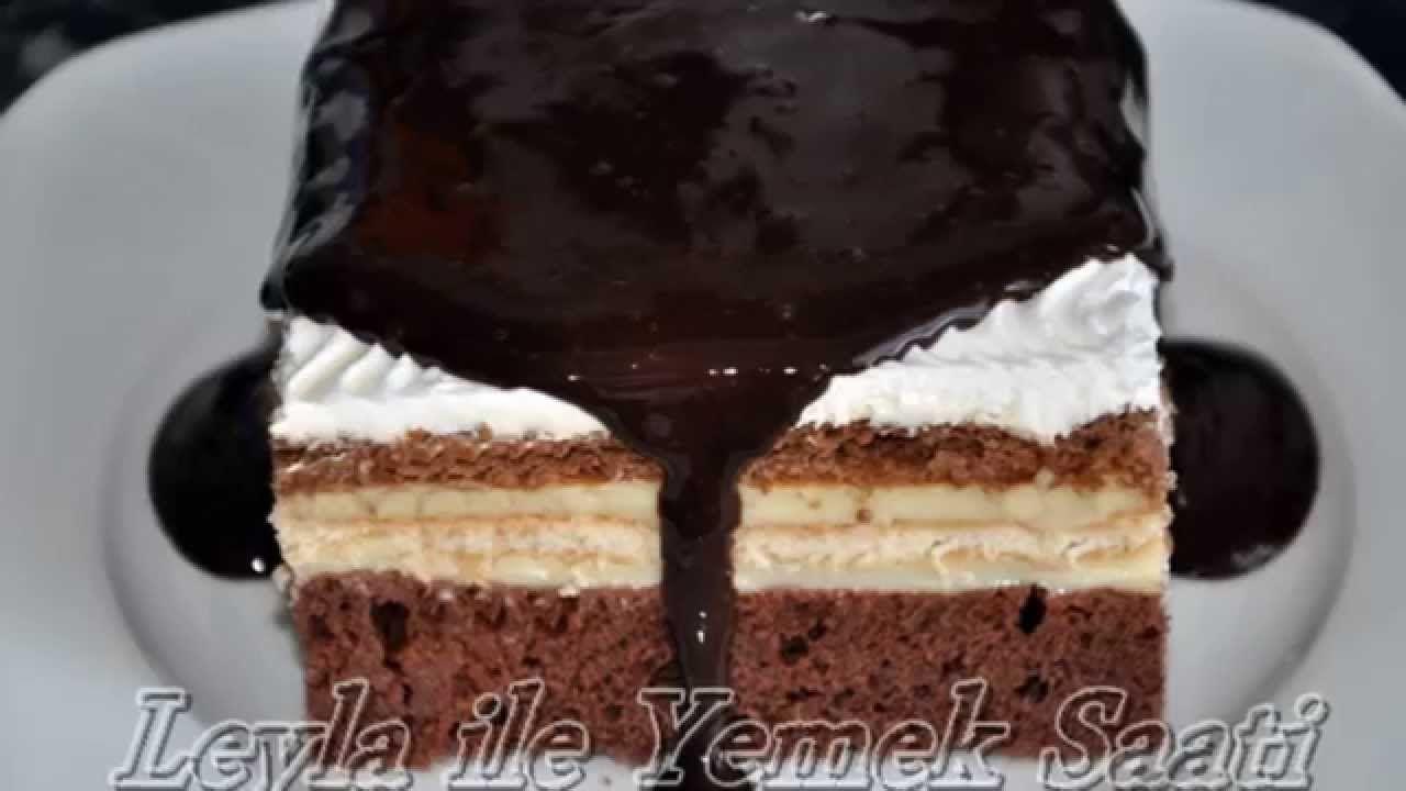 Bisküvili Pudingli Kolay Pasta Yapımı Videosu