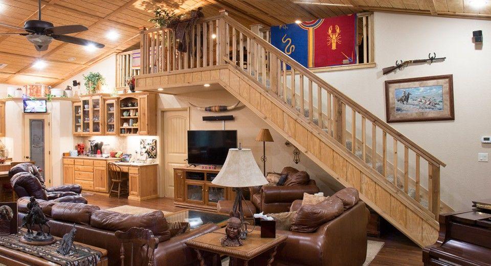 Morton Buildings Custom Home Interior In Kellyville Oklahoma