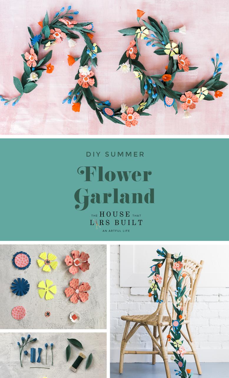 Diy Summer Flower Garland Flower Garland Diy Paper Flower Garlands Summer Diy