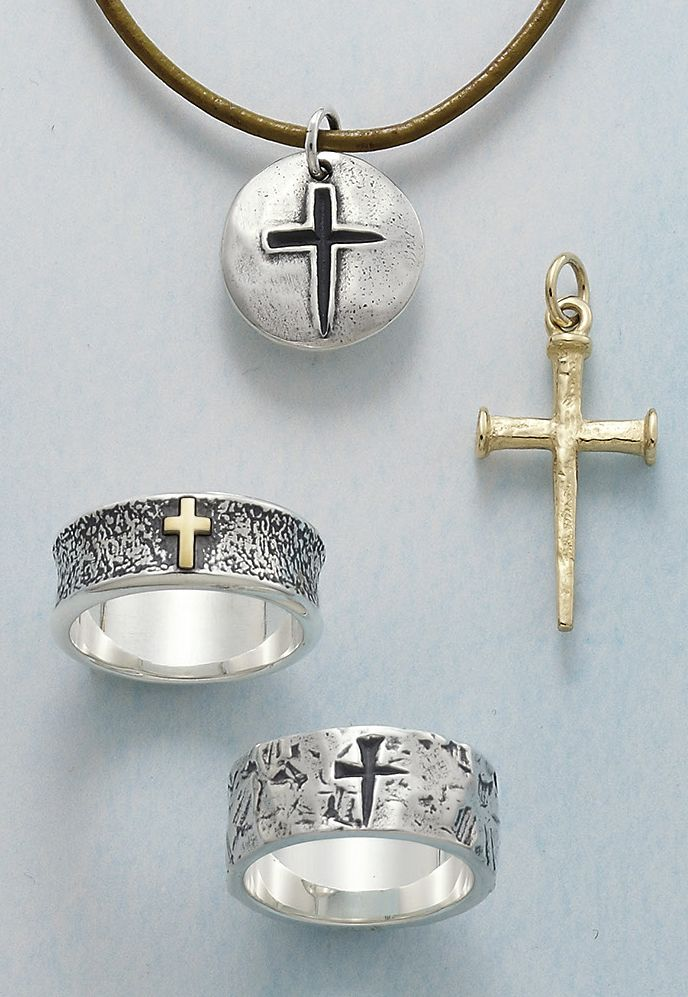 Sign of the Cross Medal (leather cord sold separately), Nail