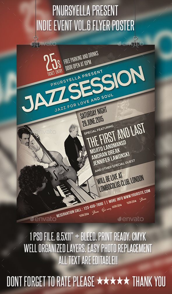 Jazz event flyer poster vol9 event flyers jazz and flyer jazz event flyer poster template psd design download httpgraphicriver pronofoot35fo Images
