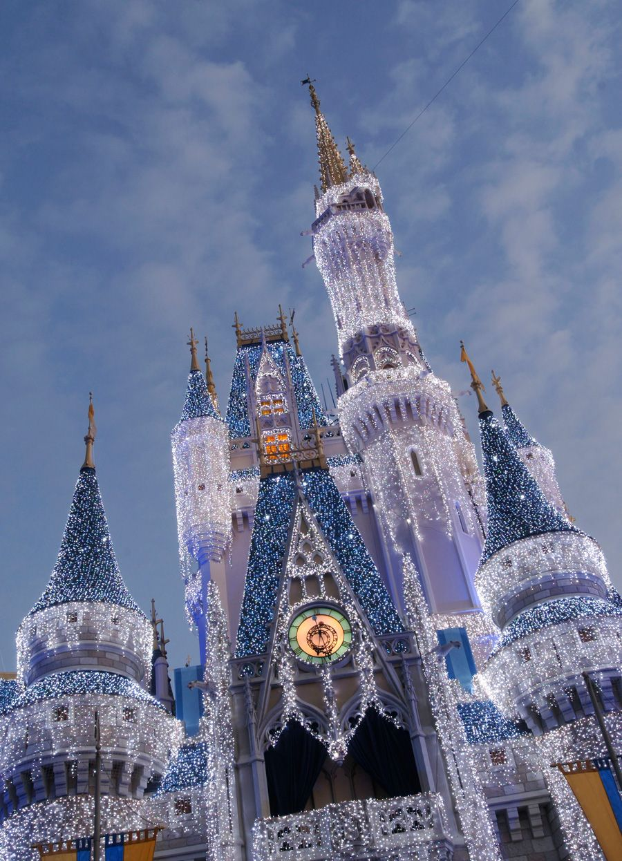 Cinderella's Holiday Wish and Castle Dream Lights at Magic Kingdom Park at Walt Disney World.