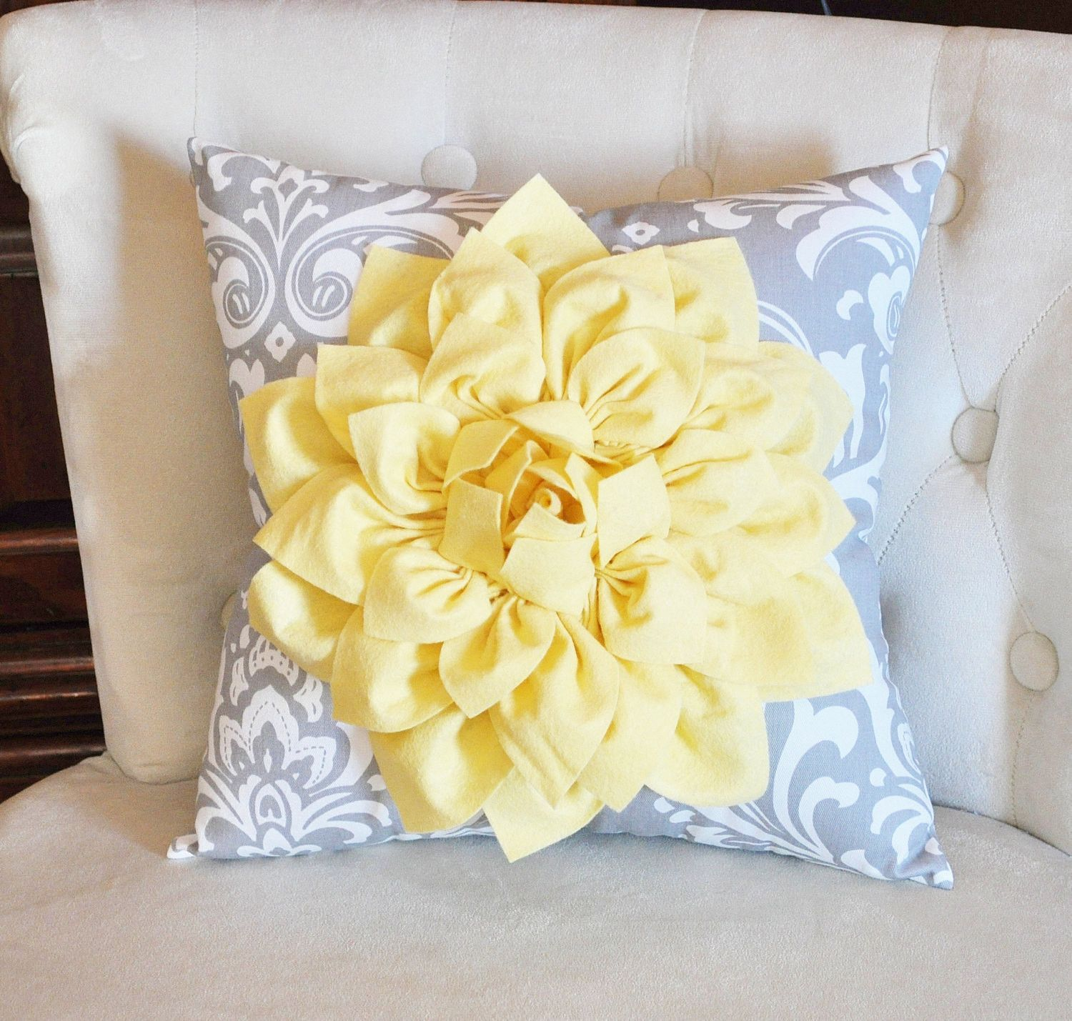 Light Yellow Throw Pillow Yellow Throw Pillows Damask Pillows