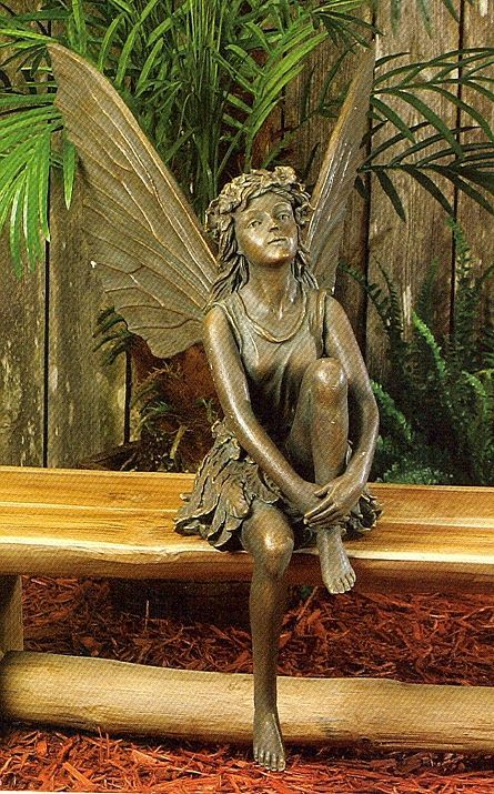 Fairies sculptures sitting fairy sitting garden fairy statue