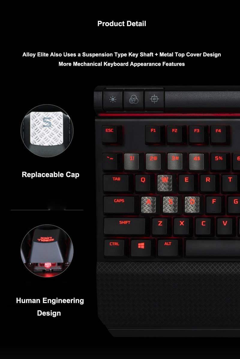 Kingston Hyperx Alloy Elite Mechanical Keyboard With Usb Charging Port Shoppostore Keyboard Hyperx Usb Charging