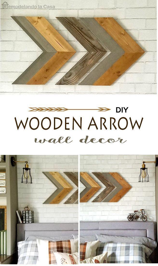 Diy Wooden Arrow Wall Art Arrow Wall Decor Diy Rustic Decor