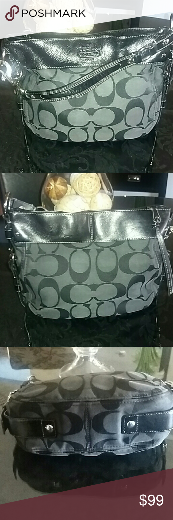 Coach Signature Collection Carly Hobo Bag Like New, Immaculate condition,  color black, light 0b6877cfad