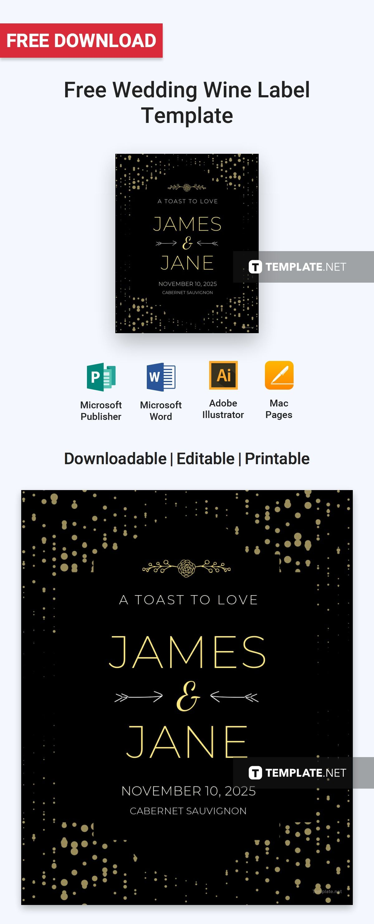 Free Download Label Templates Microsoft Word Free Wedding Wine Label  Free Label Templates  Pinterest  Label .