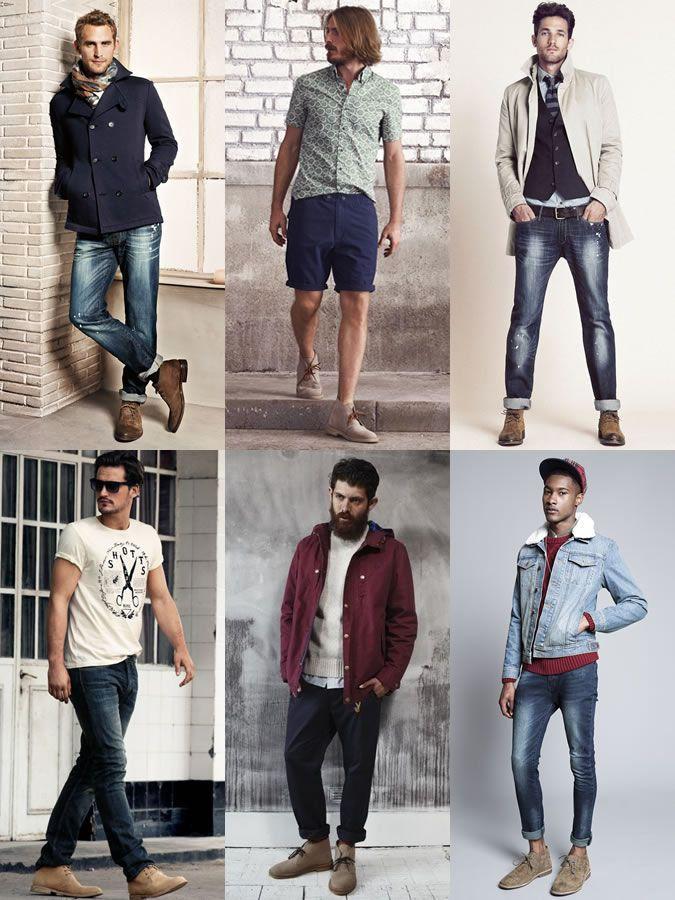 Men's Desert Boots Lookbook Outfit Inspiration | Men's Fab ...