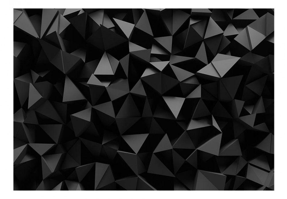 papier peint black abyss d coration murale originale bimago papiers peints design g om trique. Black Bedroom Furniture Sets. Home Design Ideas