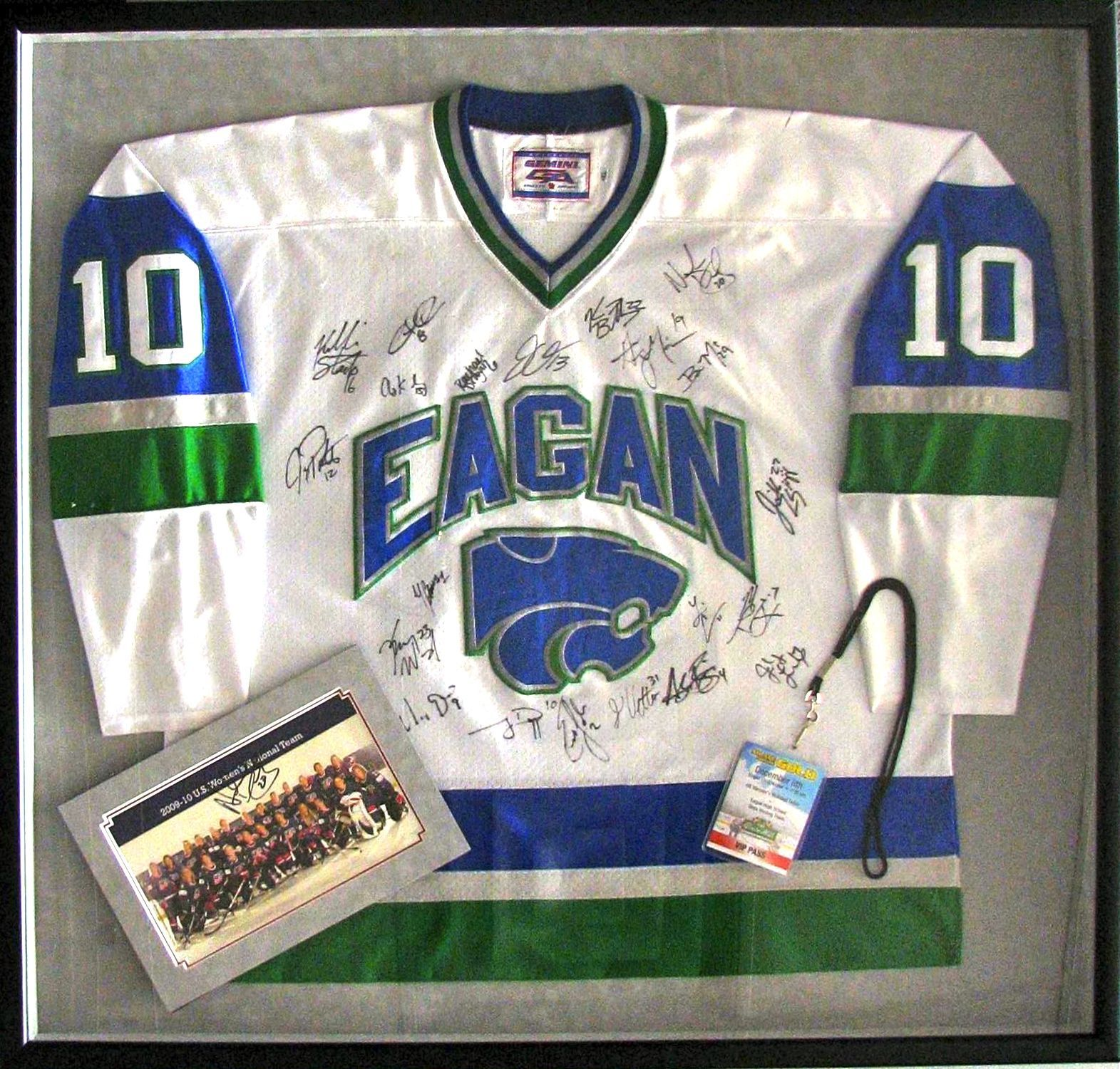 Eagan Olympic Jersey   Jersey Framing -- Tami\'s Fastframe of Eagan ...