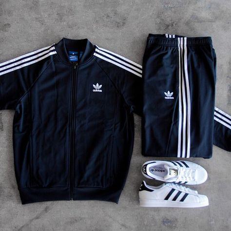 adidas Track Suit Superstars   Roupas adidas, Moda masculina ...