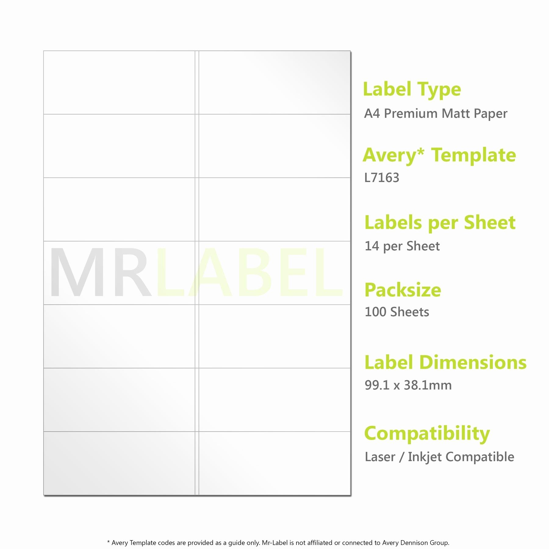 Avery Label 6 Per Page Elegant Avery Patible A4 Self Adhesive Labels L7163 J8163 14 Label Templates Avery Labels Dvd Label Template Avery label 6 per page